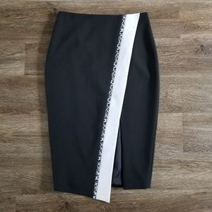 Elizabeth & James Black Asymmetrical Skirt